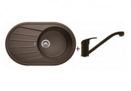 Комплект мойка Blanco Tamos 45S + смеситель Blanco Daras (гранит)