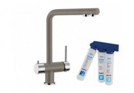 Комплект смеситель Blanco Fontas (серый беж) + BWT Барьер Expert Standart