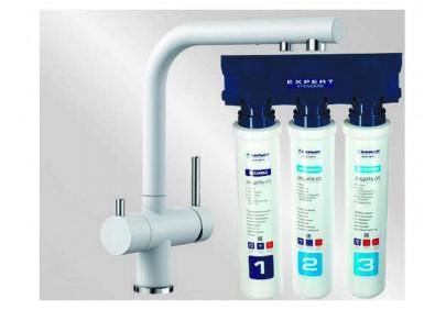 Комплект смеситель Blanco Fontas II (белый) + BWT Барьер Expert Standart