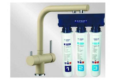 Комплект смеситель Blanco Fontas II (шампань) + BWT Барьер Expert Standart
