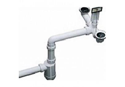 Отводная арматура двойная с переливом и сифоном Blanco (137980)