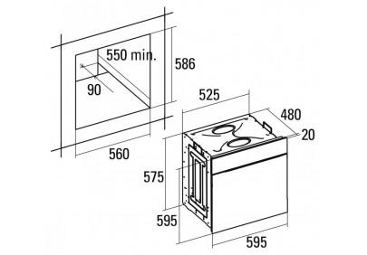 Духовой шкаф CATA CDP 780 AS BK