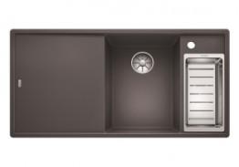 Blanco Axia III 6S (темная скала, разделочный столик из ясеня)