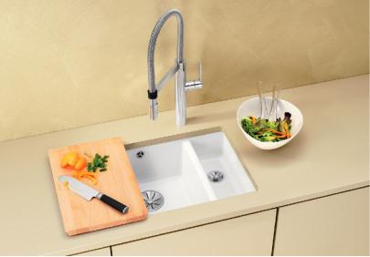 Мойка для кухни Blanco Subline 350/150-U Ceramic PuraPlus InFino