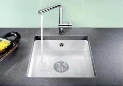 Мойка для кухни Blanco Subline 375-U Ceramic PuraPlus