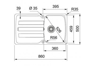 Мойка для кухни Franke AZG 611-86