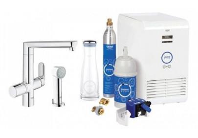 Смеситель для кухни Grohe Blue K7 для охлаждения и газирования (с дополнительной лейкой)