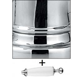 Хром с декоративной ручкой цвет Белый +1 800 ₽
