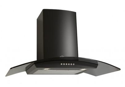 Вытяжка для кухни ELIKOR Аметист S4 700 эп 90 нержавейка / черное стекло