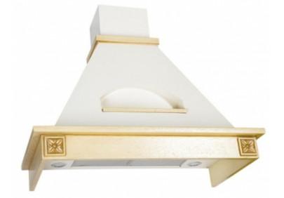 Вытяжка для кухни ELIKOR Бельведер Флореале 60 бежевый / дуб белый патина золото