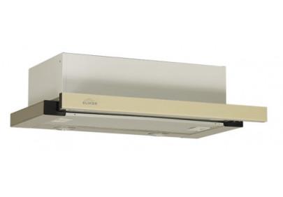 Вытяжка для кухни ELIKOR Интегра GLASS 45 нержавейка / стекло бежевое