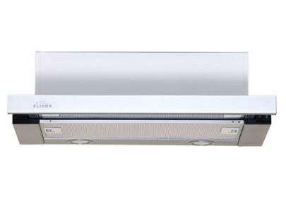 Вытяжка для кухни ELIKOR Интегра GLASS 50 нержавейка / стекло белое